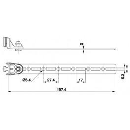 Držák - axiální ventilátor - L 197,4