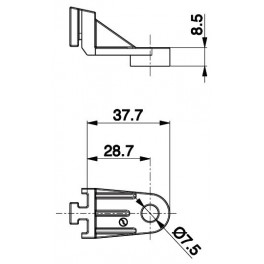 Držák axiální ventilátor - L 197,4