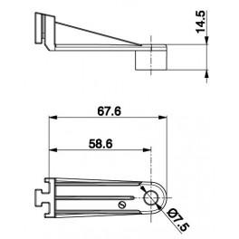 Držák axiální ventilátor - L 28,7
