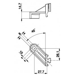 Držák axiální ventilátor - L 58,6