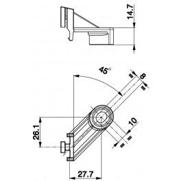 Držák axiální ventilátor - 45° DX
